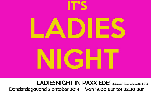Ladies Night 2 oktober 2014
